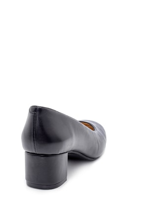 Derimod Kadın Siyah  Kalın Topuklu Ayakkabı 4