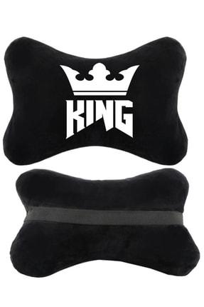 1araba1ev Pejo 508 Oto Koltuk Boyun Yastığı Seyahat 2'li Yastık King Siyah 0