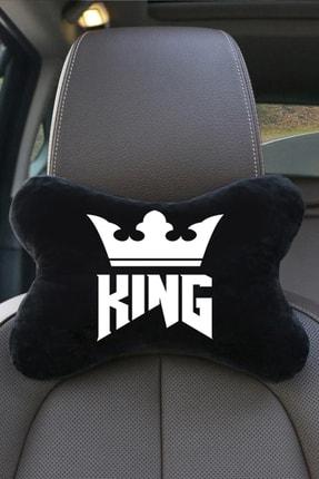 1araba1ev Pejo 508 Oto Koltuk Boyun Yastığı Seyahat 2'li Yastık King Siyah 3