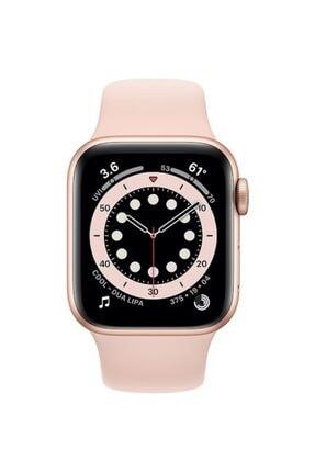 Apple Watch Series 6 Gps 44 Mm Altın Rengi Alüminyum Kasa Ve Kum Pembesi Spor Kordon 1