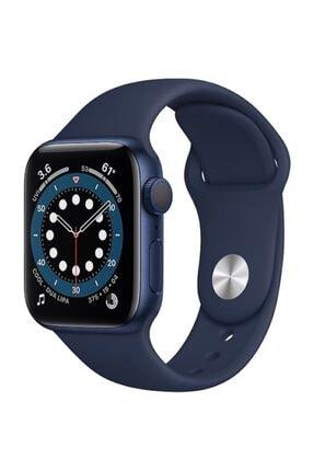 Apple Watch Series 6 Gps 40 Mm Mavi Alüminyum Kasa Ve Koyu Lacivert Spor Kordon 0
