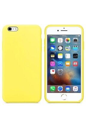 Zengin Çarşım Apple Iphone 6 - 6s İçi Kadife Lansman Silikon Kılıf Sarı 0