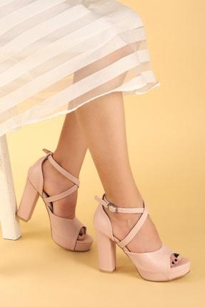 Ayakland Kadın Pembe Topuklu Ayakkabı 0