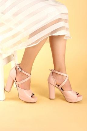 Ayakland Kadın Pembe Topuklu Ayakkabı 1