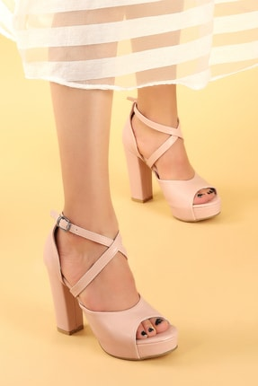 Ayakland Kadın Pembe Topuklu Ayakkabı 2