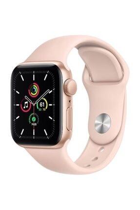 Apple Watch Se Gps 40 Mm Altın Rengi Alüminyum Kasa Ve Kum Pembesi Spor Kordon 0