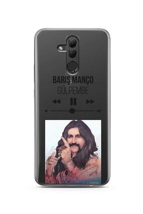 Spoyi Barış Manço Mp3 Tasarımlı Süper Şeffaf Silikon Telefon Kılıfı Huawei Mate 20 Lite 0