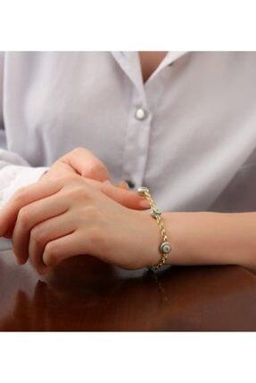 Gümüşistan Kadın Gold 925 Ayar Gümüş Göz Nazarlı Trend Bileklik 1