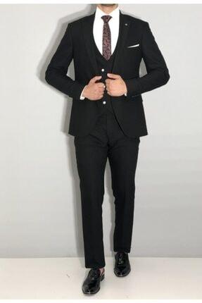 SeSevinç Erkek Siyah Slim Fit Takım Elbise 0