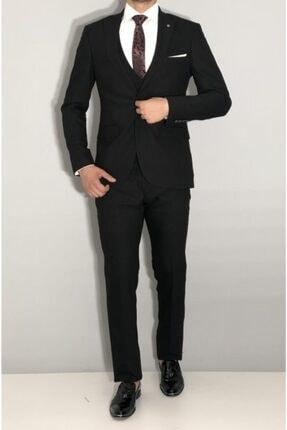 SeSevinç Erkek Siyah Slim Fit Takım Elbise 1