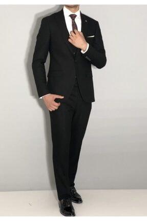 SeSevinç Erkek Siyah Slim Fit Takım Elbise 3