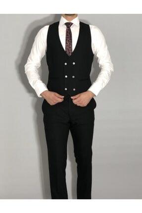 SeSevinç Erkek Siyah Slim Fit Takım Elbise 4