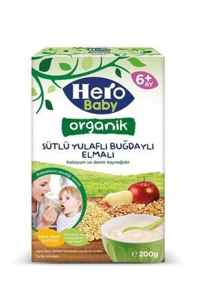 Hero Baby Organik Sütlü Buğdaylı Elmalı Kaşık Mama 200g 2 Adet 1