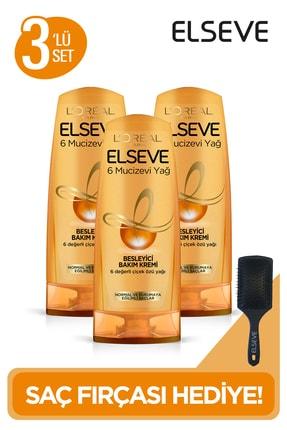 Elseve L'oréal Paris 6 Mucizevi Yağ Besleyici Bakım Kremi 360 Ml 3'lü Set + Tarak Hediye 0