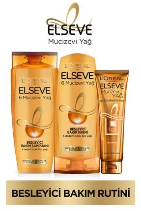 Elseve 6 Mucizevi Yağ Besleyici Bakım Şampuan 450ml & Saç Kremi 360 Ml & Saç Güzelleştirici Krem 0