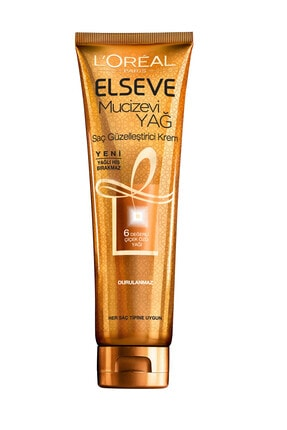 Elseve 6 Mucizevi Yağ Besleyici Bakım Şampuan 450ml & Saç Kremi 360 Ml & Saç Güzelleştirici Krem 3