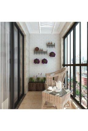 Renkli Duvarlar Yapışkanlı Sünger Beyaz Tuğla Duvar Kağıdı Kaplama Paneli 70x77 Cm 6 Adet 2