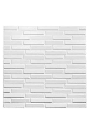 Renkli Duvarlar Nw55 Opak Küçük Taş Desen Kendinden Yapışkanlı Sünger Esnek Beyaz Duvar Paneli 70x77 Cm 6 Adet 0