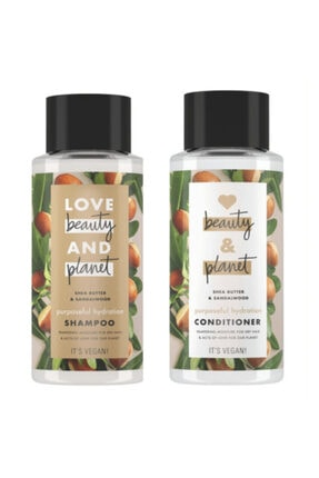 Love Beauty and Planet Shea Yağı Sandal Ağacı Şampuan Ve  Saç Kremi 0