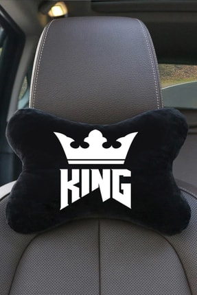 1araba1ev King 2'li Siyah Reno Laguna Oto Koltuk Boyun Yastığı Seyahat Yastık 3
