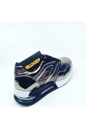 Bulldozer Kadın Gri Parlak Spor Ayakkabı 1