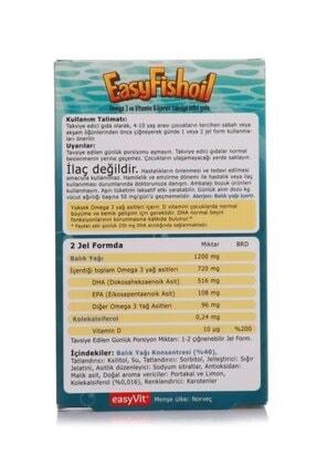 Easy Fishoil Easy Fish Oil 30 Jel Tablet x 2 Adet 1