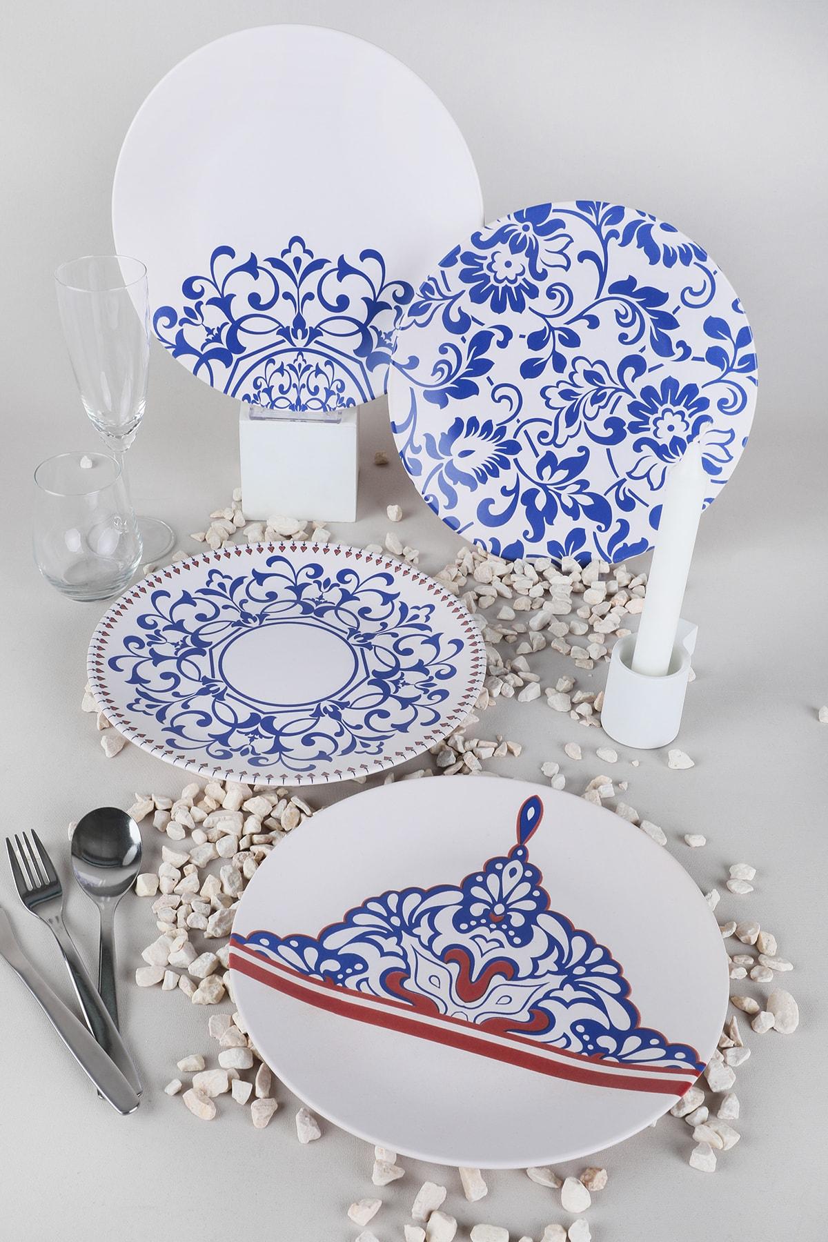 Blue Palace Servis Tabağı 25 Cm 4 Adet - 18925-27-28-44