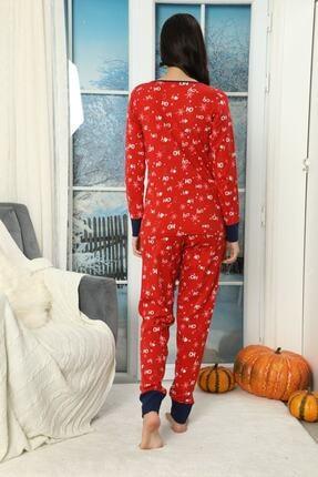 Siyah İnci Düğmeli Interlok Pijama Takımı 1