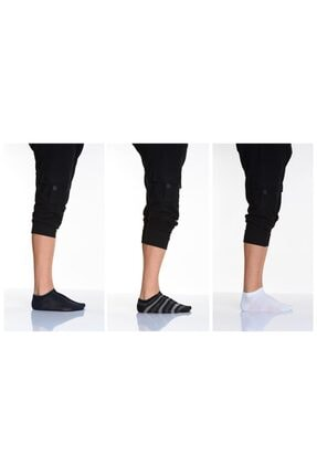 Lateks Çorap Idilfashion 3lü Çemberli Düz Karışık Erkek Patik Çorabı 0