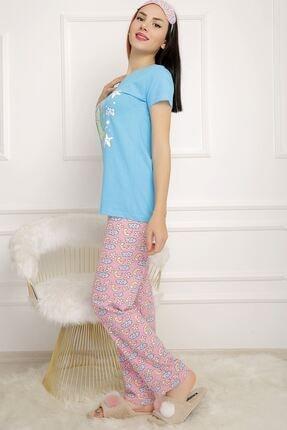 BİLDİKS Kadın Mavi Lavanta Pijama Takımı 1
