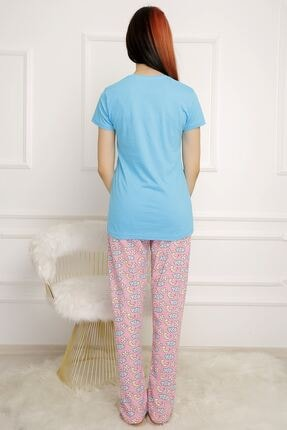 BİLDİKS Kadın Mavi Lavanta Pijama Takımı 2