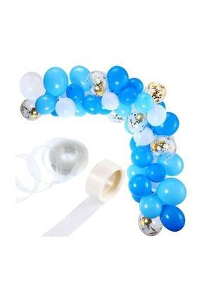 Dünya Magnet Balon Zinciri, Dekoratif Makaron Şerit Balon Kemeri Aparatı 5 M. 2