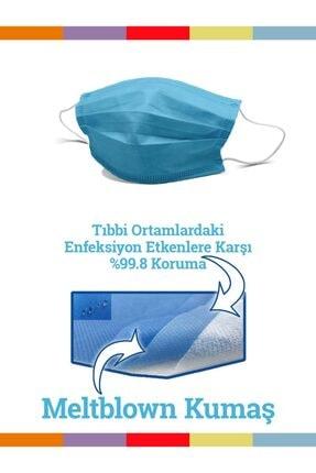 Maskemask Meltblown Full Ultrasonk Maske 3 Katlı Mavi Kumaş 100ad 0