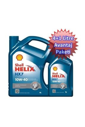 Shell Helix Hx7 10w40 4+1=5 Litre Avantaj Paketi 0