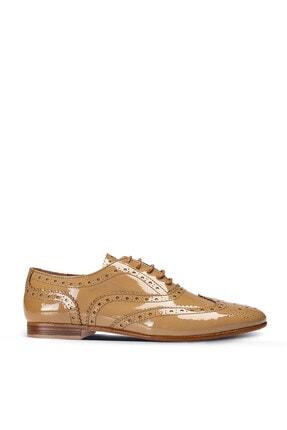 Hakiki Rugan Vizon Rengi Loafer Kadın Ayakkabı 01418ZKHVC01
