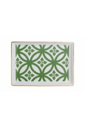 Porland Morocco Kahvaltı Tabağı Desen1 Yeşil 18x13cm 04a+p018773 0