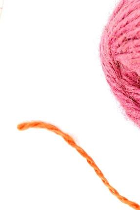Diva İplik Renkli Jüt (kendir) Paket Ipi Turuncu 1