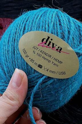 Diva İplik Renkli Jüt (kendir) Paket Ipi Turuncu 3
