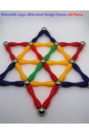Modauyum Manyetik Lego Mıknatıslı Denge Oyun Çubukları (148 Parça) 0
