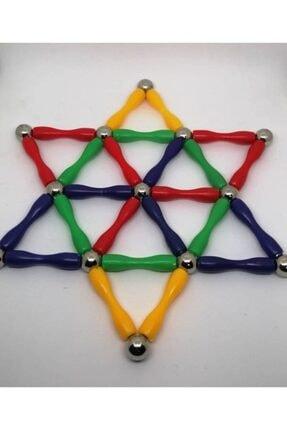 Modauyum Manyetik Lego Mıknatıslı Denge Oyun Çubukları (148 Parça) 1
