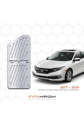İntachrom Honda Civic Krom Ayak Dinlendirme Pedalı - 2017 - 2020 0