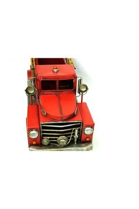 Mnk Dekoratif Metal Araba Itfaiye Aracı Saksı 2