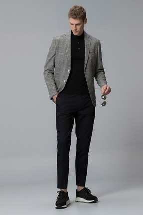 Lufian Procida Spor Blazer Ceket Slim Fit Siyah 0
