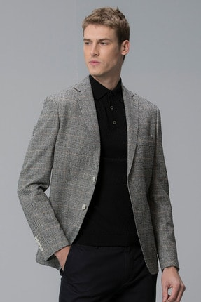 Lufian Procida Spor Blazer Ceket Slim Fit Siyah 1
