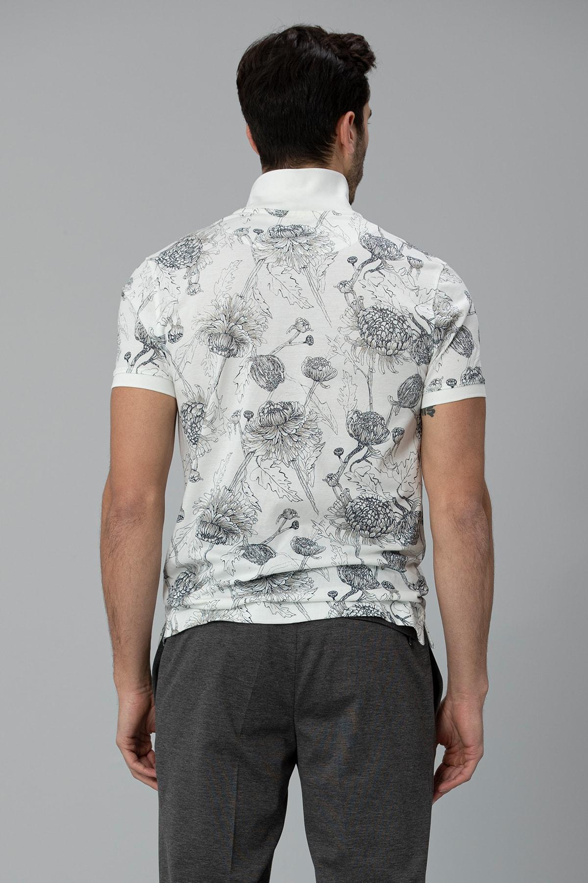 Lufian Capri Spor Polo T- Shirt Kırık Beyaz 3