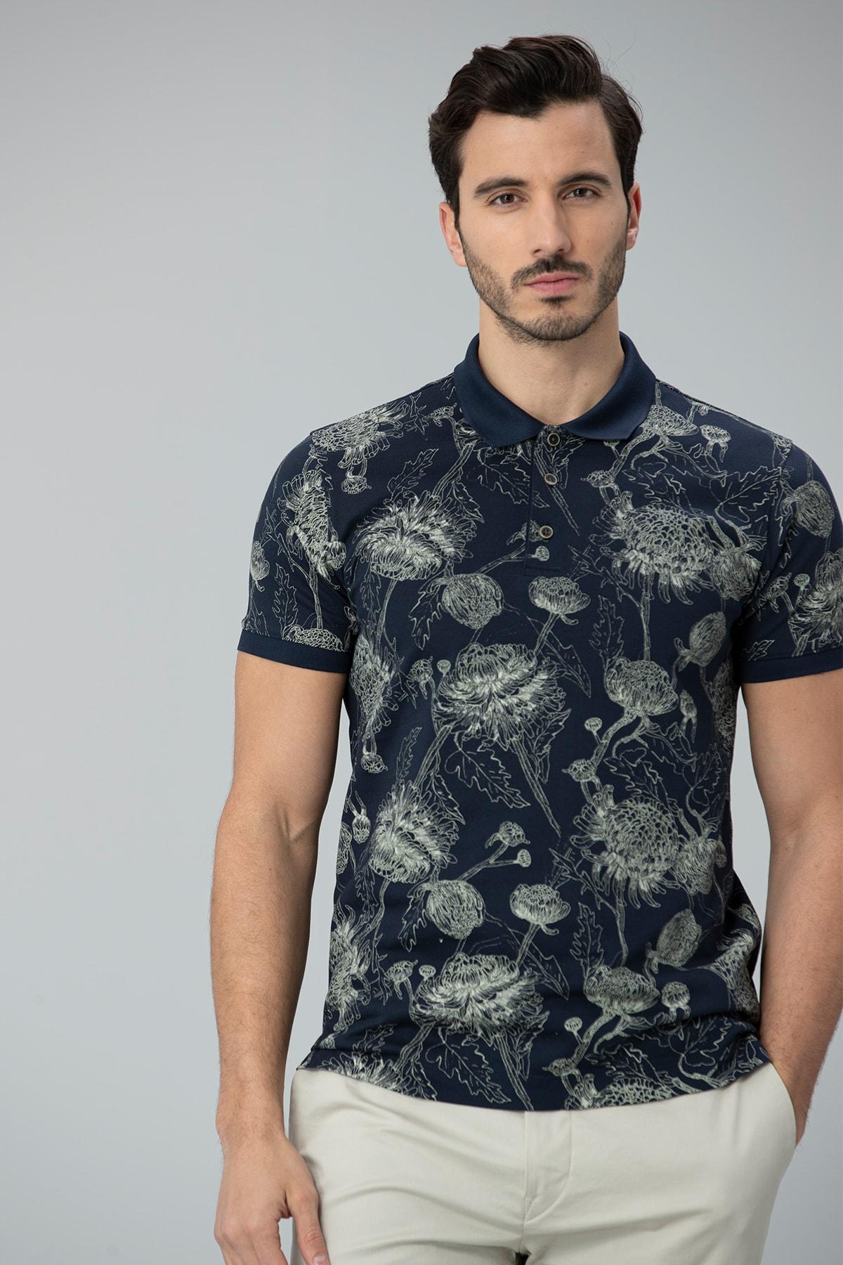 Lufian Capri Spor Polo T- Shirt Lacivert 1