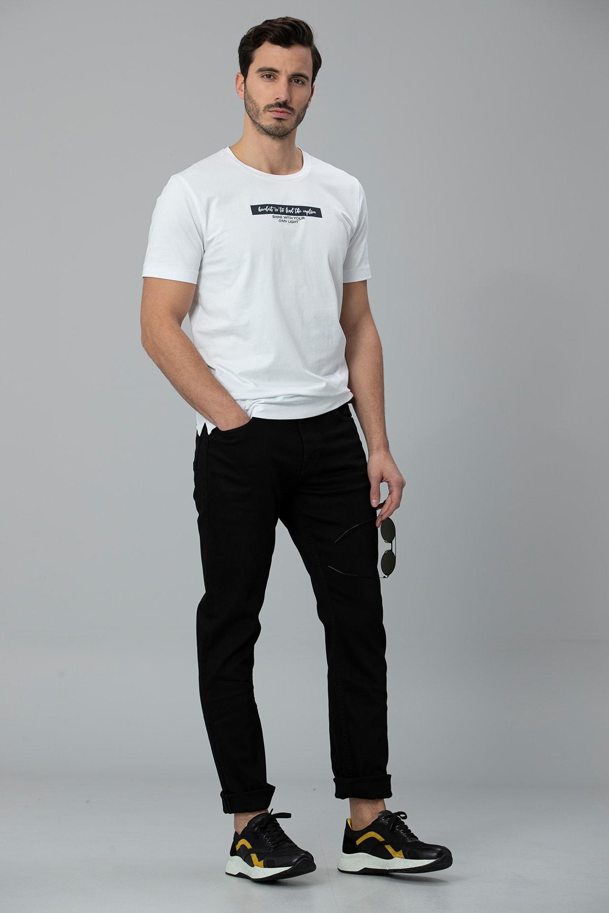 Lufian Rıck Modern Grafik T- Shirt Beyaz 2