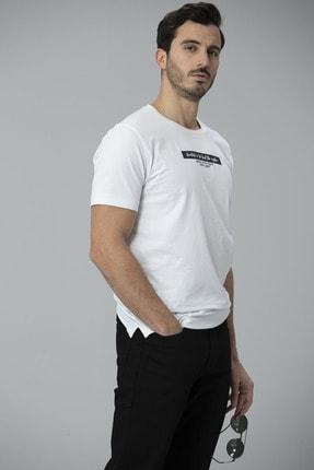 Lufian Rıck Modern Grafik T- Shirt Beyaz 4