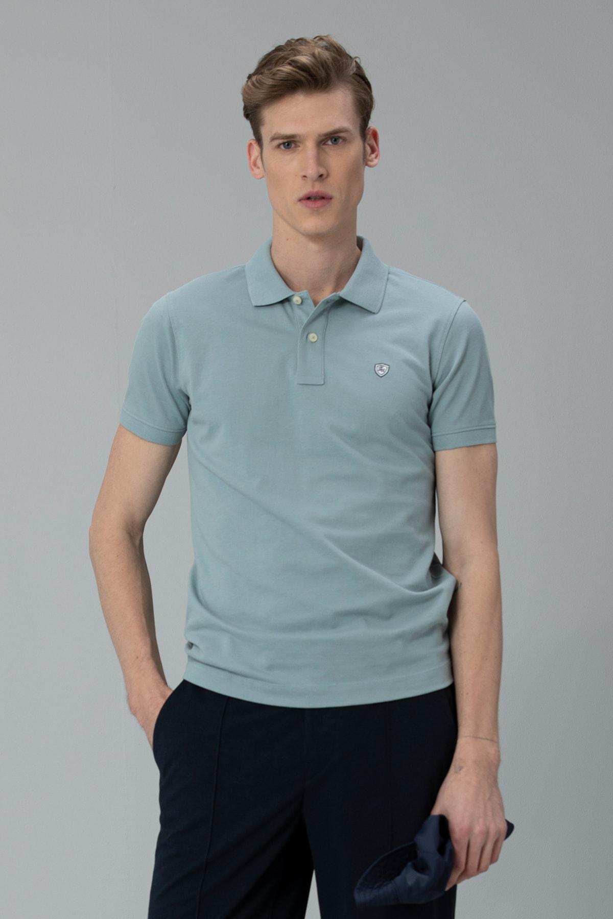 Lufian Laon Spor Polo T- Shirt Nane Yeşili 1
