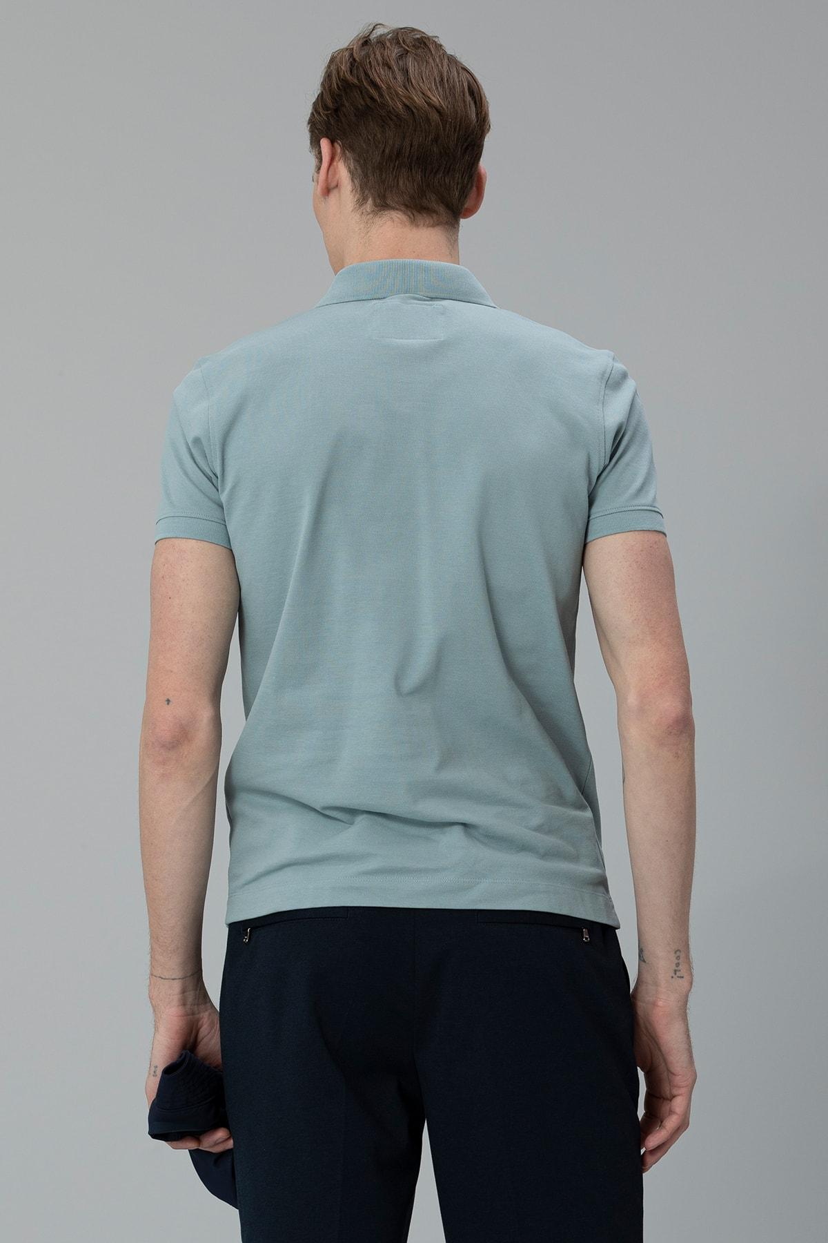 Lufian Laon Spor Polo T- Shirt Nane Yeşili 4